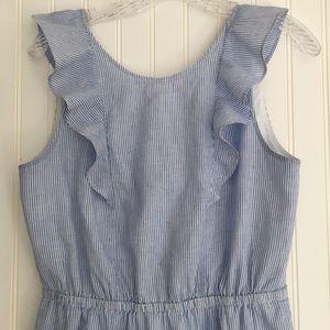 J. Crew Factory blue/white striped dress SIZE 6